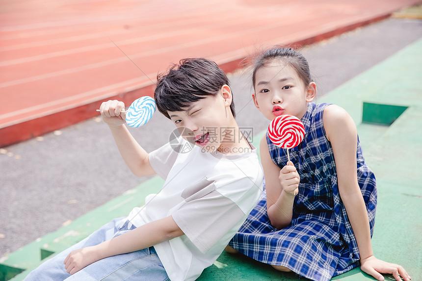 小学生分享棒棒糖图片