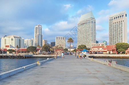 美国圣地亚哥城市街景图片