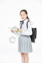 小学生看书图片