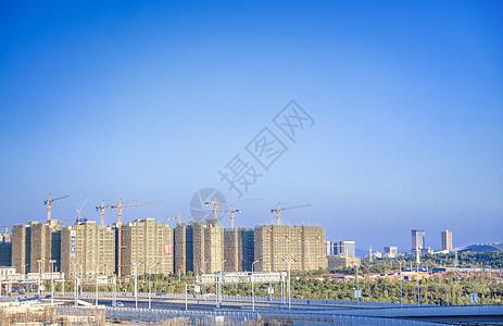 建设中的高楼城市图片