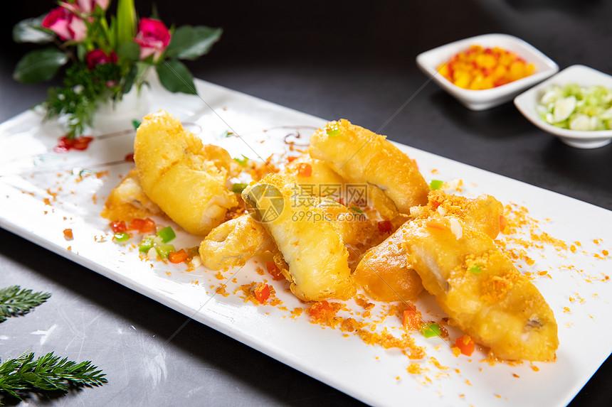 椒盐九肚鱼图片