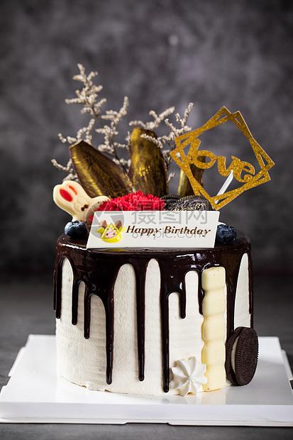 巧克力生日蛋糕图片