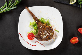 美食烤羊排图片