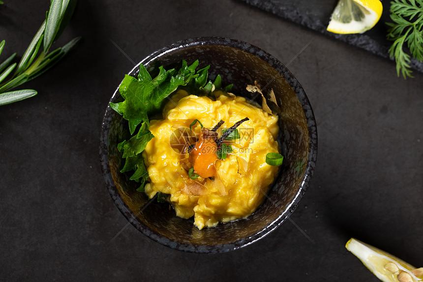 美食海胆溜蛋图片