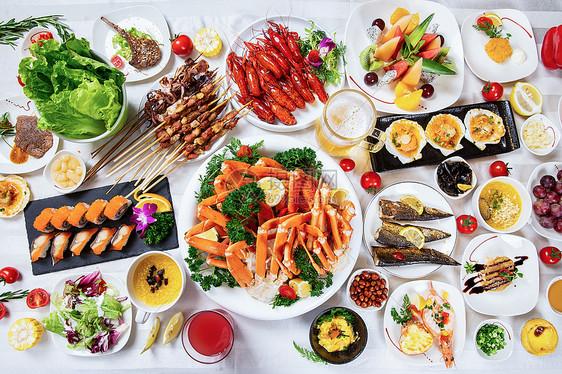 丰盛大餐图片