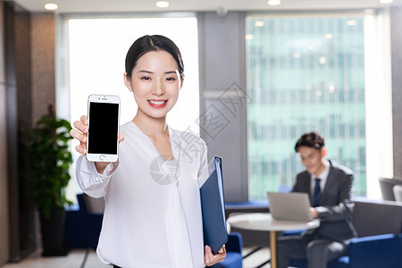 商务女性手机展示图片