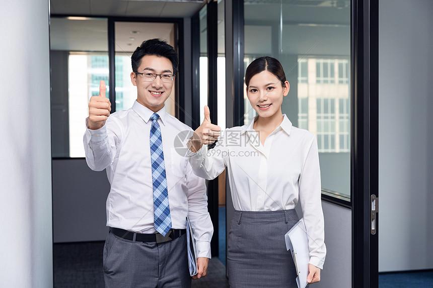 职场商务男女图片