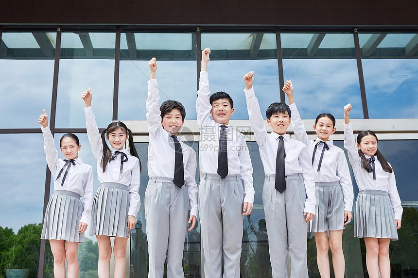 小学生团体图片