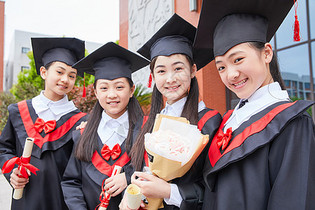小学生毕业照图片