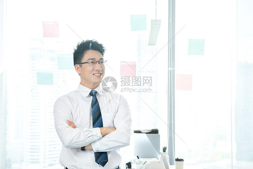 商务男士开会会议板书图片
