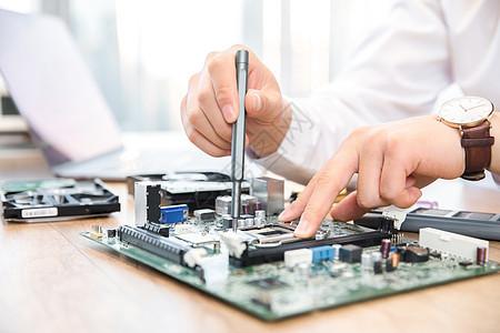 机械师修理程序主板特写图片