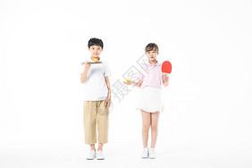儿童运动乒乓球图片