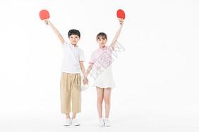 儿童乒乓球胜利图片
