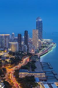 现代城市厦门鹭江道夜景picture