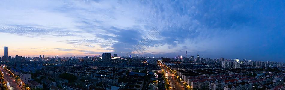 上海傍晚长图图片