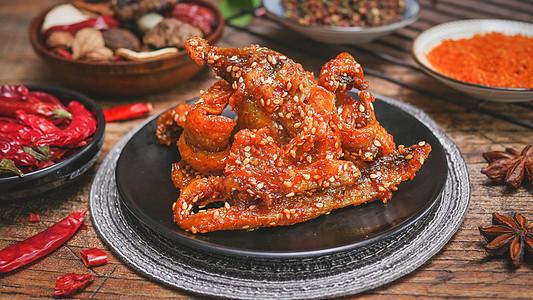 香辣油赤棕鱼图片