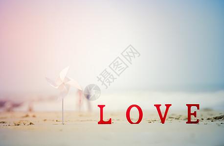 520情人节海边love图片
