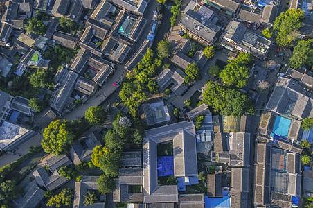 江南水乡古屋俯拍图片