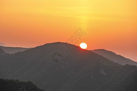 云台山日出图片