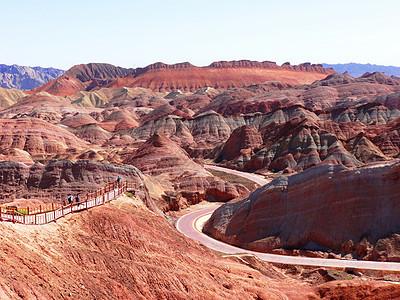 大西北张掖国家地质公园丹霞地貌图片