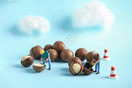 创意微距劳动小人图片