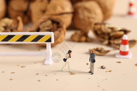 施工创意微距小人图片