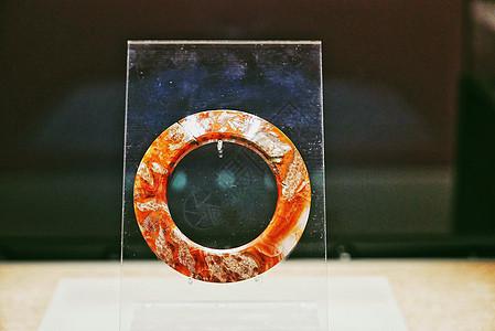 战国文物玛瑙环图片