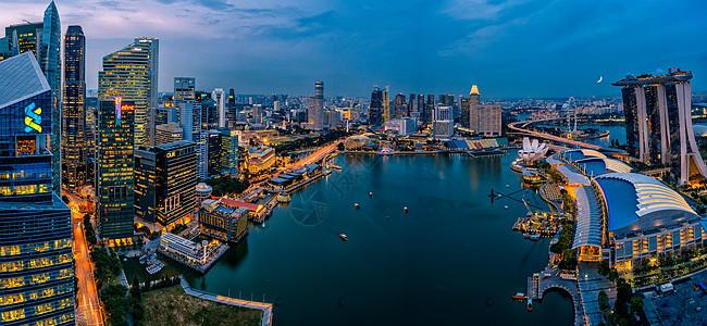 新加坡金沙湾夜景图片
