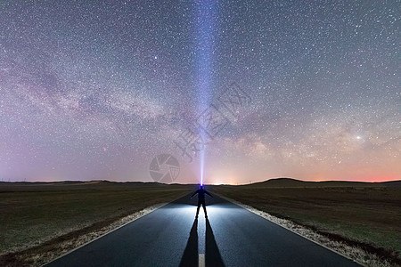 内蒙古银河图片