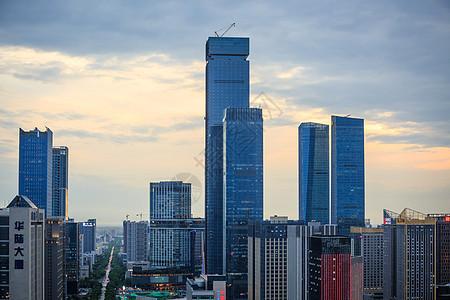 西安锦业路街景鸟瞰图片