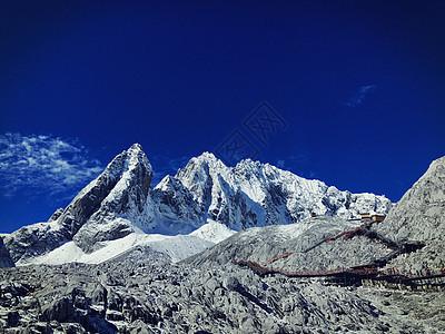 玉龙雪山冰川图片