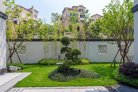 别墅样板间外围绿化环境图片