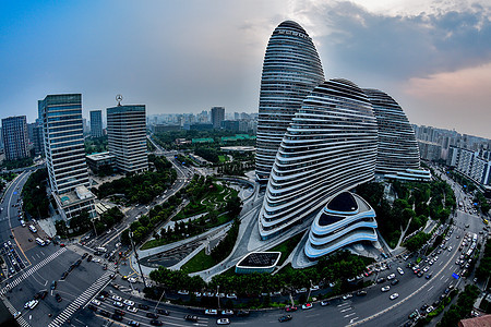北京望京SOHO建筑图片