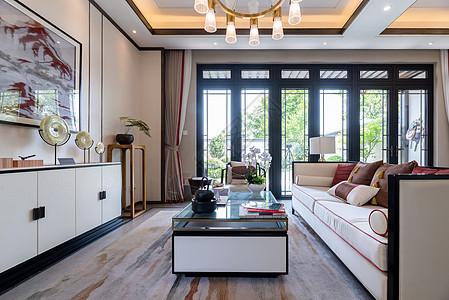 新中式别墅样板间客厅图片