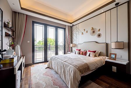 新中式别墅卧室图片