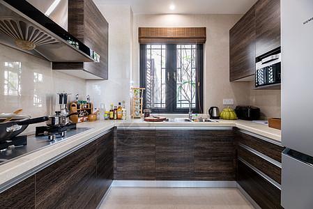 新中式别墅样板房的厨房图片