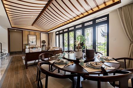 新中式别墅样板房图片