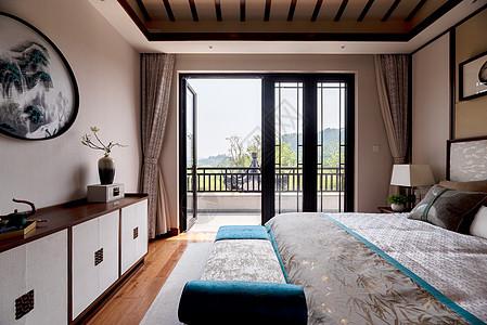 新中式别墅样板间卧室图片
