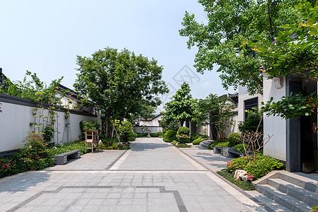 新中式别墅群庭院绿化设计图片