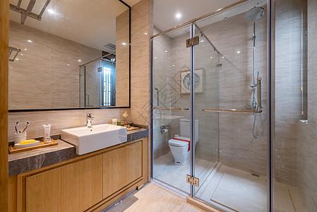 新中式别墅卫生间图片