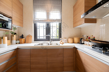 新中式别墅样板间厨房图片