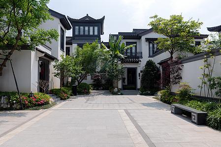 新中式别墅样板间中庭图片