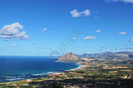 西西里岛海岸线图片