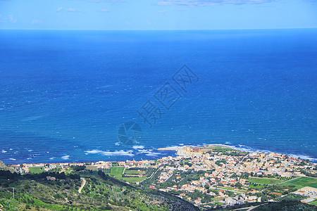 西西里岛特拉帕尼全景图片