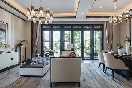 新中式样板房-客厅图片
