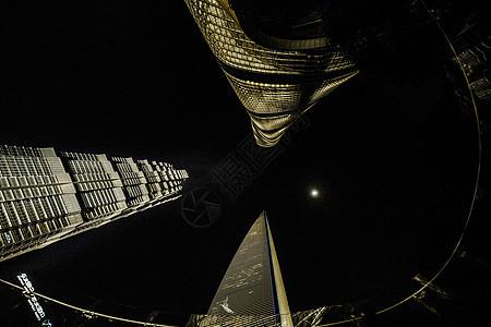 上海金融中心夜景图片
