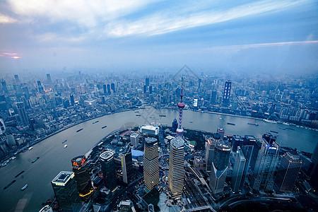 上海鸟瞰夜景图片