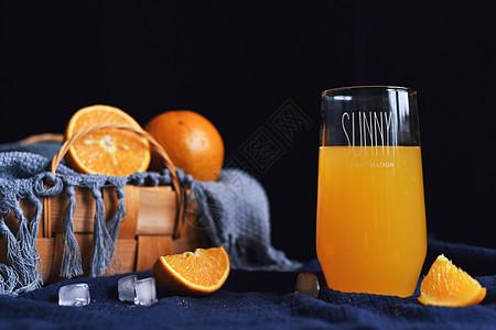 夏季水果橙子果汁图片