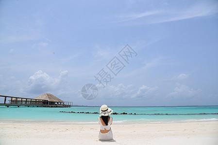 马尔代夫美女背影图片