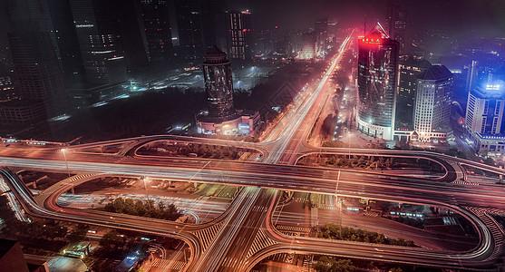 北京四元桥国贸傍晚和夜幕图片
